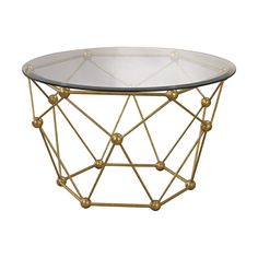 Add functional style to your interior décor with the gorgeous Sterling Molecular accent table. This elegant piece offers a sophisticated and classic style that's sure to be a favorite in your home decor for years to come.
