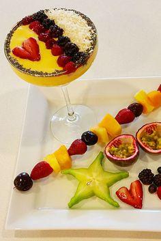 Fruit margarita ,exotic fruit, margaritas fruit kabobs, passionfruit ,starfruit, Dessert ,virgin margarita