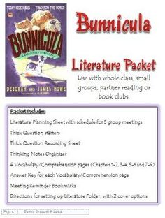 Bunnicula is a great story for relunctant 3rd and 4th grade readers.  Lots of fun to read!