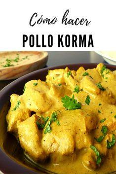 Hoy os traigo un pollo korma. Me encanta y no me resisto y a dejar de comerlo solo que ahora tengo que aprender a cocinar este plato típico de la cocina hindú. Así que fue algo pensado y hecho. Compre los ingredientes y me puse manos a la obra para empezar a elaborar mi pollo korma. La verdad es que me quedó delicioso y no encontré diferencia alguna con el de los restaurantes. Por eso voy a compartirlo con vosotros. #pollo #lacocinadelila Pollo Korma, Pollo Chicken, Falafel, Curry, Meat, Breakfast, Ethnic Recipes, Food, Indian Recipes