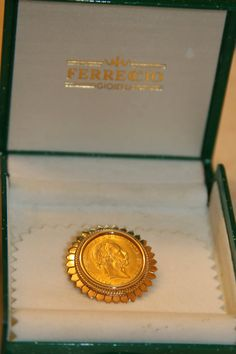 Austrian 4 Florins 10 Francs Gold Coin set in by SeductiveVintage, $900.00