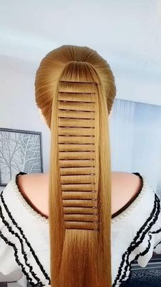 Hairdo For Long Hair, Easy Hairstyles For Long Hair, Girl Hairstyles, Hair Up Styles, Medium Hair Styles, Toddler Hair, Hair Today, Hair Videos, Hair Hacks