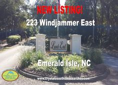 #EmeraldIsleRealEstate; #EmeraldIsleBeaches; #CrystalCoastRealEstate. New Listing in the gated community of Land's End in Emerald Isle.  Over 3300 Heated square feet with may upgrades. Visit www.crystalcoasthomesearches.com for full details.