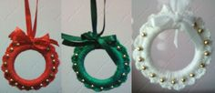 Guirlanda pequena para árvore de Natal. Tamanho: 6,5 cm. Pronta-entrega. #natal #guirlanda #crochê #christmas