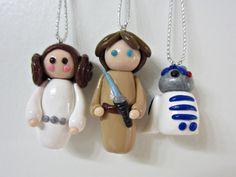 Star Wars Christmas Tree Ornament Set of 3 Free by AMORgiftshop