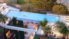 "A pool that feels like swimming through air ... CNN's Jeanne Moos introduces the ""Sky Pool""."