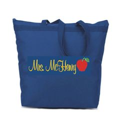 Personalized  TOTE Bag APPLE FOR Teacher   SCHOOL #LIBERTY #TotesShoppers