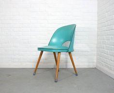 Turquoise Vinyl Chair 1