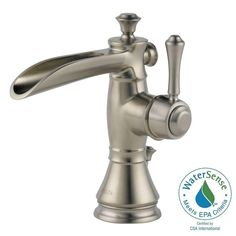 Fresca Cascata Waterfall Single Hole Mount Bathroom Vanity Faucet ...