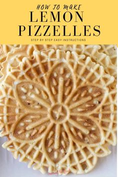 This lemon pizzelle recipe is a citrus variation of the classic pizzelle recipe and a delicious addition to your Christmas cookie recipe box. Thin and crisp, pizzelles are a classic Italian cookie and are a favorite to take to holiday cookie exchanges. Lemon Pizzelle Recipe, Pizelle Recipe, Pizzelle Cookies, Cookies Et Biscuits, Gluten Free Pizzelle Recipe, Chocolate Pizzelle Recipe, Italian Cookie Recipes, Cake, Pastries