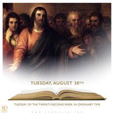 https://www.facebook.com/TodaysGospelReading/  Today's Gospel Reading.