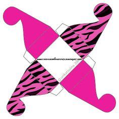 Zebra Pink Fundo Limpo – Kit Completo com molduras para convites, rótulos para guloseimas, lembrancinhas e imagens! |Fazendo a Nossa Festa