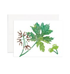 Bigleaf Maple Printed on 100% recycled paper. Blank inside, perfect for any occasion.