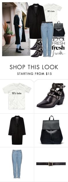 """90's fresh"" by sayitwearit on Polyvore featuring Yves Saint Laurent, Givenchy, Sole Society, Topshop and Maison Margiela"
