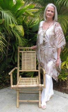 """$39.99  Long Soft Beige & Tan Kimono Style Tunic.  Dress it up or down for any occasion.  Makes the perfect swim cover-up too!  Find at: """"Faye Maxwell-California"""".  www.fayemaxwellcalifornia.com"""