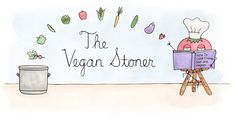 The Vegan Stoner blog. Great blog with easy vegan recipes and adorable illustrations.