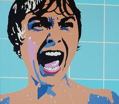 Psycho Movie Pop Art - Janet Leigh shower scene #popart #hitchcock #janetleigh