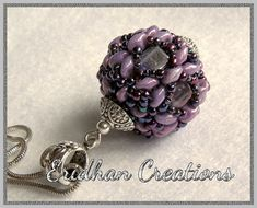 Beaded bead  Dragonfly  tutorial by EridhanCreations.