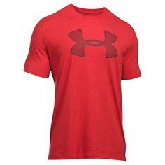 Men's Under Armour Big Shield Logo Tee, Size: Medium, Dark Red