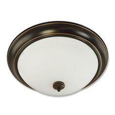 Good Earth Lighting 19.25-in W Brentwood Oil Rubbed Bronze Ceiling Flush Mount $70 (2 tube fluor)