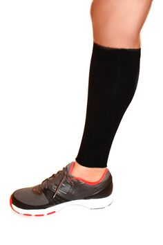 Calf Compression Sleeve Running Training Exercise Athletic Leg Sleeve (Pair) (S/M, black). * Preferred Leg Compression Socks For Men & Women * Best Protector For Shin Splint & Cramps * Recover Faster From Tired Legs, Nylon/Spandex compression sleeve Quick dry and moisture wicking Pressure: 20 mmHg Increases blood circulation Reduces muscle pain Improves workout performance Retains natural body temperature.