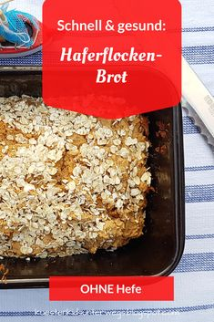 Rezept: Schnelles und gesundes Haferflocken-Brot - ohne Hefe und ohne Gehenlassen. Eine einfache Back-Anleitung für ein Haferflockenbrot auf Küstenkidsunterwegs! Das leckere und gesunde Brot mit Haferflocken gelingt auch Back-Anfängern, in der Kastenform ist es schnell und unkompliziert gebacken. #rezept #schnell #blitzrezept #haferflockenbrot #haferflocken #brot #haferflocken #backen #ohnehefe #ohne #kein #hefe #gehenlassen #malzbier #gesund #lecker #kastenform #küstenkidsunterwegs