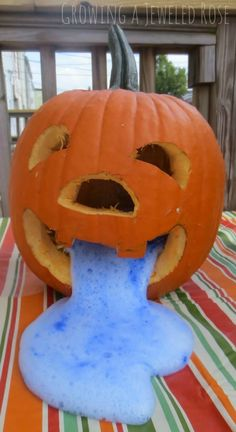Erupting Pumpkins Experiment for Kids