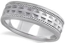 #Jewelry #WeddingBands #WeddingRings Modern Handmade Wedding Ring For Men Palladium
