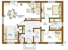 Schwedenhaus bungalow grundriss  Schwedenhaus eingeschossig SkandiHaus 95 Grundriss | Bungalow ...