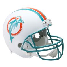 Miami Dolphins Riddell Miami Dolphins VSR4 80-96 Throw Back Full-Size Replica Football Helmet - $119.99