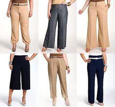 Выкройки модных брюки для полных женщин