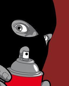 ☆ Real Hero - Banksy -::- By Artist Greg Guillemin ☆ Graffiti Art, Art Banksy, Jasper Johns, Arte Punk, Real Hero, Dope Art, Secret Life, Andy Warhol, Urban Art