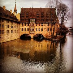 Interesting historical site. Beautiful architecture. Nurnberg, Germany.