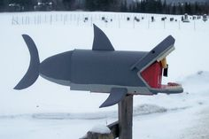 shark mailbox great white shark mail box by CrossKnots on Etsy, $145.00 with free shipping