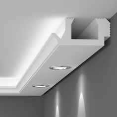 Lichtleisten in wunderschönen modernen und organischen Formen - tolle…Indirect lighting as a residential design. Wonderful lighting effects. - Home DecorEasy-to-fit lightweight polystyrene coving that provides a perfect finish. House Ceiling Design, Ceiling Design Living Room, Ceiling Light Design, Home Ceiling, Ceiling Decor, Living Room Designs, Cove Lighting Ceiling, Gypsum Ceiling Design, Interior Lighting