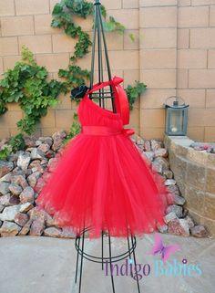 Tutu Dresses Tutu Dress Flower Girl Dress Red by indigobabies, $75.00