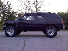 """honda passport \ isuzu rodeo 2""""lift with mud tires... I'd like this!"""