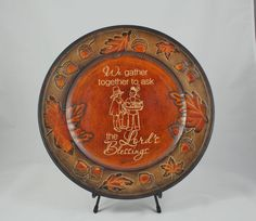 Thanksgiving Charger  Thanksgiving Plate  by ThreeDamesDreamin