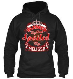 Spoiled By Melissa ! Black Sweatshirt Front