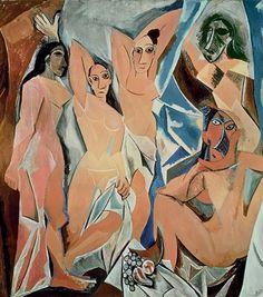 """A paixão de Picasso pelo primitivismo arte criada por povos da África da Oceania e das Américas pré-colombianas é tema de uma imperdível exposição que fica em cartaz até este domingo (23) no Musée du Quai Branly em Paris. Acima a célebre pintura """"Les Demoiselles dAvignon"""" (1907). Mais sobre esse mergulho em uma das produções mais profundas do artista você confere em vogue.com.br - ou no link da bio. (Via @isabel_junqueira e @voguelivingbrasil) #cultura #vogueliving #picasso #paris  via VOGUE…"""