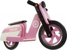 Pink stripe scooter, ideal for a girl aged 2 to 6 years to help children learn balance. See our full range of girls' balance bikes online.