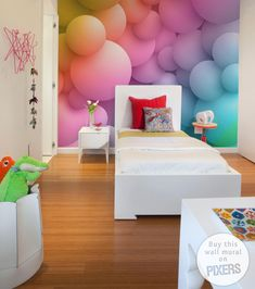 "Wall Mural ""Abstract Bubbles"" #kidsroom #wallmural #walldecor #PIXERS"