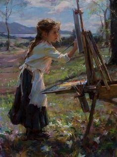 Шедевры искусства | ART Daniel Gerhartz. Маленькая художница 1965.