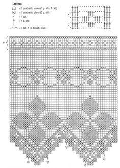 Filet Crochet, Crochet Lace Edging, Crochet Borders, Crochet Cross, Crochet Doilies, Crochet Yarn, Knitting Yarn, Crochet Stitches, Crochet Patterns