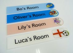 Boys door signs oliver , lucas  #Football #FairyTail #Cars #Bikes Fun Door Signs for your Child http://www.de-signage.com/InteriorGlassAcrylicHouseProducts.php