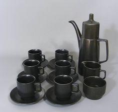Your place to buy and sell all things handmade Coffee Set, Black Coffee, Coffee Cups, Coffee Maker, Tea Sets Vintage, Vintage Coffee, Retro Vintage, Retro Fan, Milk Jug