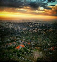 The beautiful skies of Lebanon.