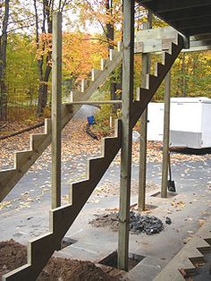 How To Build Tall Outdoor Stairs For A High 2nd-Story Deck Or Balcony