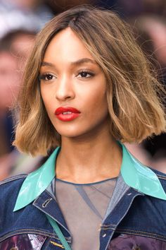 Models at Burberry Prorsum walked the runway in perfect poppy red lips. See how to get the makeup look here.
