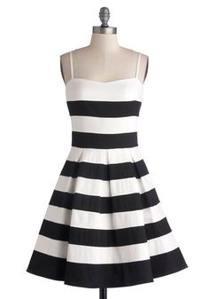 Striped a-line dress. i'm in love!